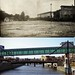 Then & Now - CGW bridge 1908 Flood 1