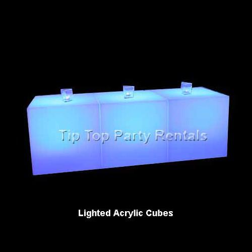 Acrylic Cubes Three lighted