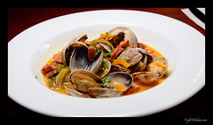 clam, seafood, bouillabaisse, food, dish, cuisine, clams, oysters, mussels and scallops,