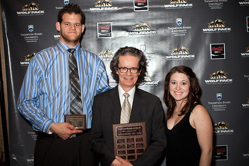 Greg Stewart, Dr Alan Shaver and Marlee Mertens-Athletes of the Year