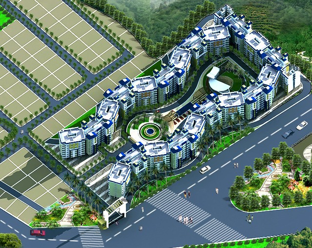 Layout Of Apartment Complex In Dajikaka Gadgil Developers