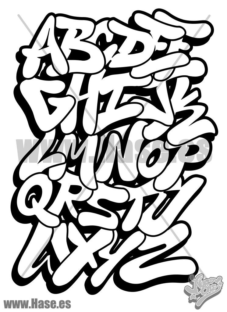 Abecedario Tag Graffiti Bomba Estilo Tattoo Letras Para