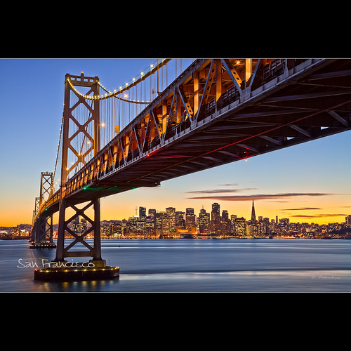 sanfrancisco california city bridge sunset sea usa skyline lens landscape fav20 iso dominique bluehour hdr 2011 fav10 palombieri mayozdom