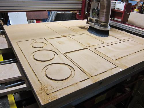 CNC cutting baffles