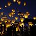 Sky Lantern Releasing 放天燈 by olvwu | 莫方