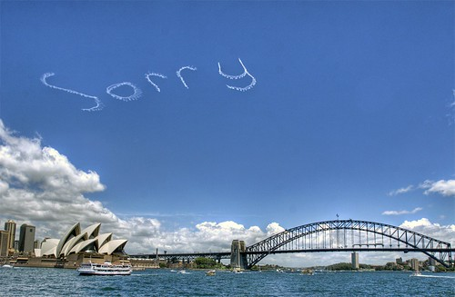 "SORRY  over Sydney Opera House ""Apology Day"" National Sorry Day"