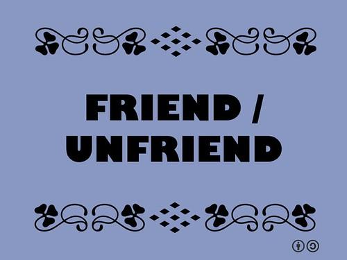Buzzword Bingo: Friend/Unfriend