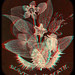 Beautiful in Death, Skeleton Leaves 1850's anaglyph 3D by depthandtime