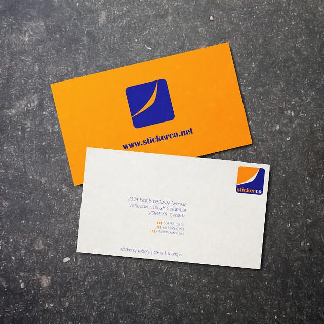 StickerCo Business Card
