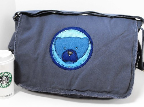 Blue Bear Safari Bag - ArtsiBitsi.etsy.com