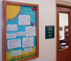 Bulletin Board holding job announcements