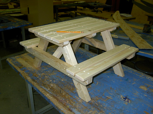 Mini Picnic Table Project Flickr Photo Sharing