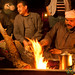 Getting the Fire Ready for Coffee in Wadi Rum, Jordan