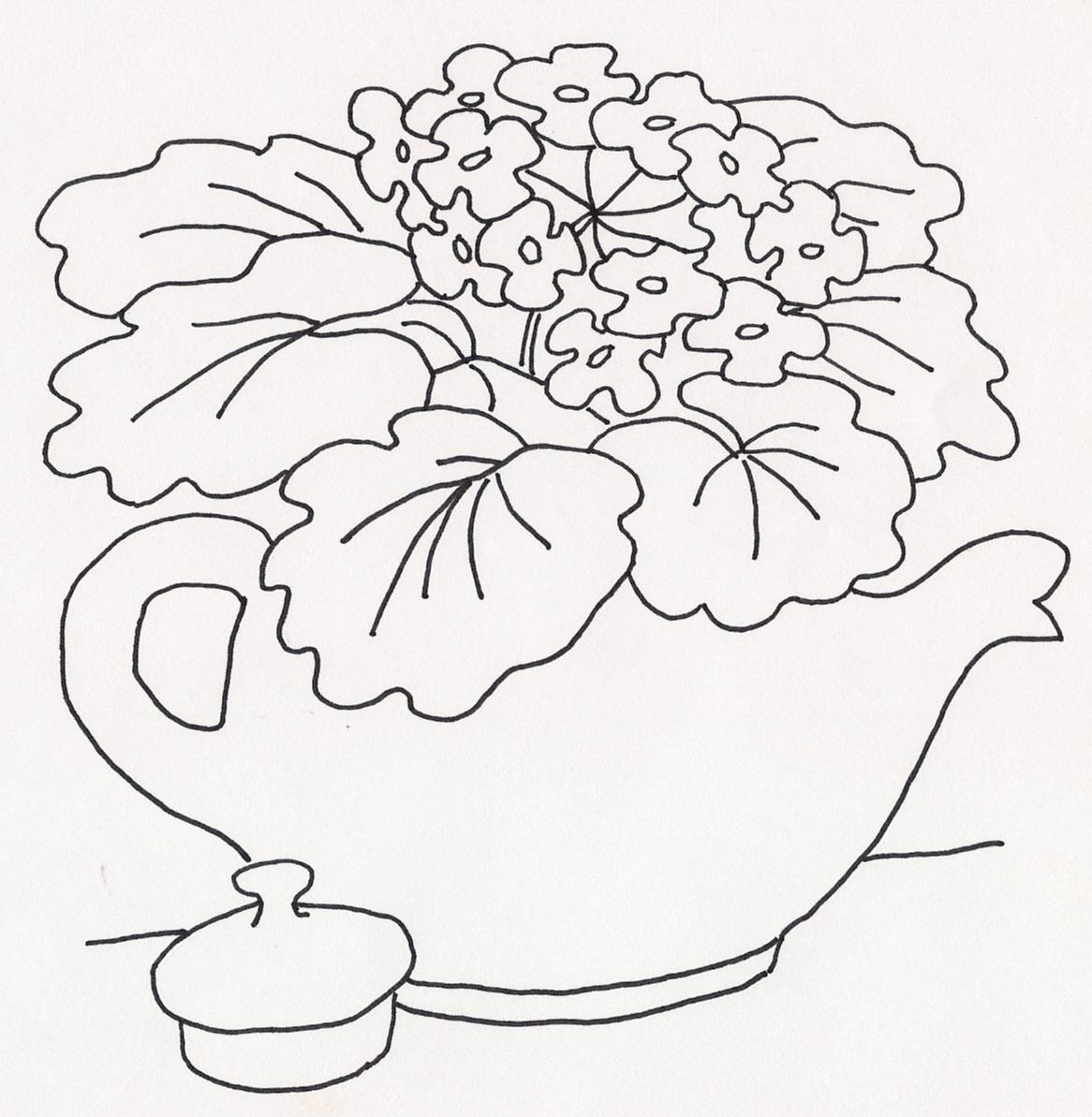Violets in Teapot