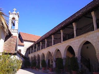 Courtyard at Chrysorrogiatissa Monastery