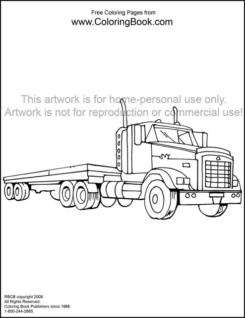 1000 Images About Coloring Pages Trucks On Pinterest Big Rig Coloring Pages