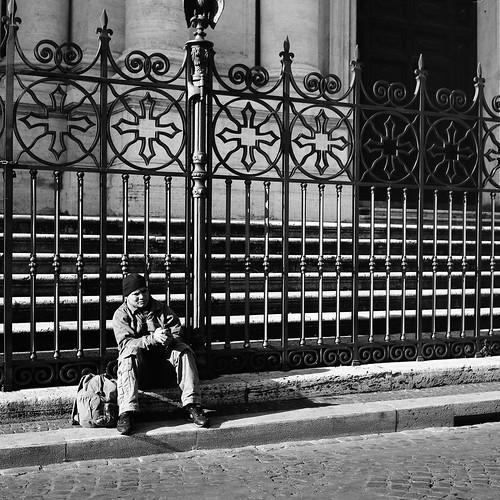 "Image titled ""Sitting, Rome."""