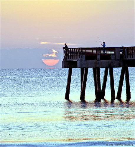 Juno Pier sunrise #2 by Alida's Photos