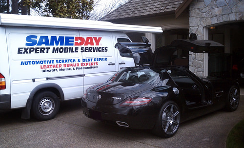 Mercedes-Benz AMG SLS | Mercedes AMG SLS Repair Services | Mercedes-Benz Auto Repair | Mobile Mercedes-Benz Repair by Sameday Auto Scratch and Dent Repair by Sameday Premium Services