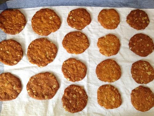 a progression of Anzac biscuits