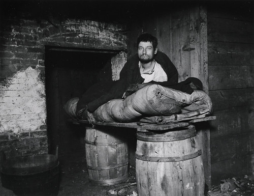 """One of four Pedlars Who Slept in the Celler of 11 Ludlow Street Rear"" by Preus museum"