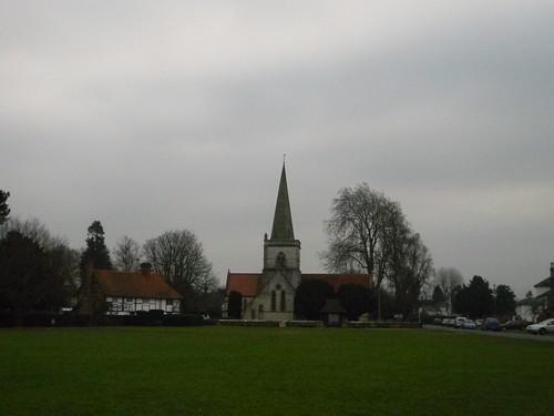 Village green & church, Brockham