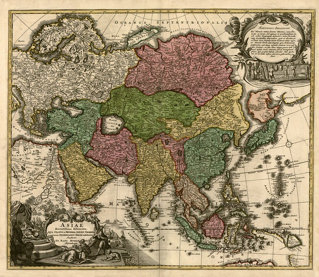 Johan Baptist Homann - Map of Asia (c 1700)