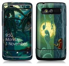 My custom Monkey Island GelaSkin skin for HTC 7 Trophy