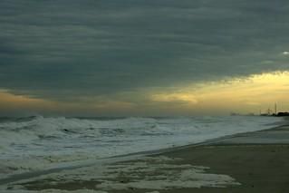 Seaside Heights during Hurricane Noel