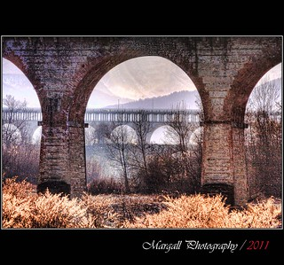 Perspective on the bridges - HDR - Viadotto Soleri - Cuneo - Italy