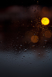 raindrops and bokeh