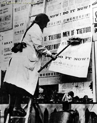 Women at work Bill Poster, 1915