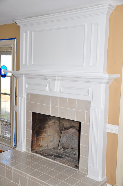 Deep Fireplace In A Decorator Stones Wall