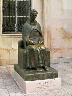 Obrázek Marin Držić. statue croatia balkans statuary dubrovnik hrvatska marindržic