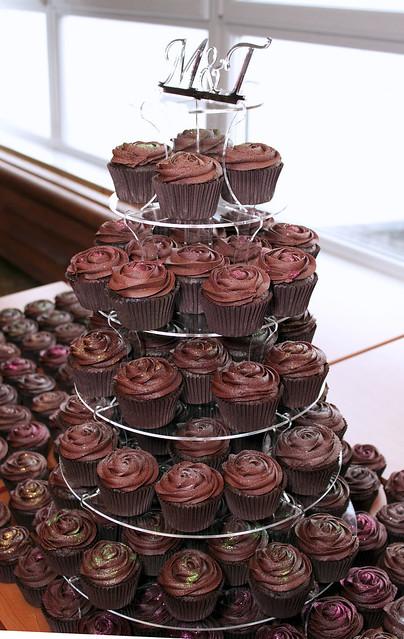 Chocolate Wedding Cupcakes   Flickr - Photo Sharing!