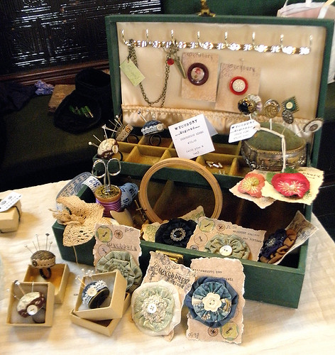 Treasure, Todmorden - Sewing Box display