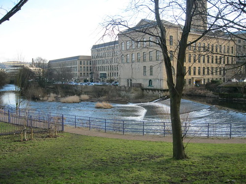 Saltaire river and mill