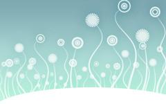 Web Backgrounds Swirly Flowers Light Blue from BackgroundsEtc