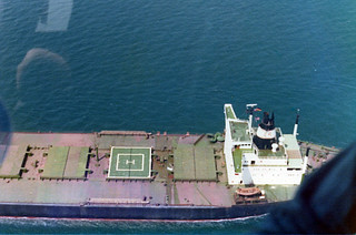 Approach on to Ore Carrier, Port Hedland - March 1977