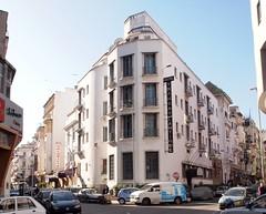 The facade of a hotel in Casablanca Morocco
