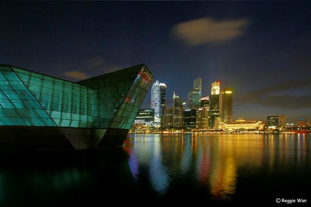 Dark hour @ Marina Bay.
