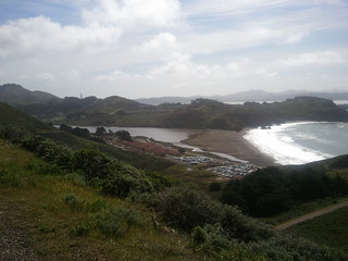 Marin headlands coastline from atop the high point of the Run for the Seals 2011