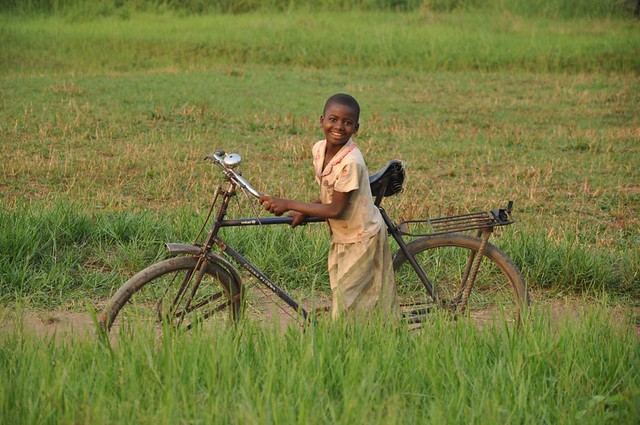 Girl biker in DRC