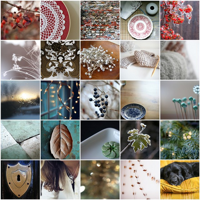 A few of my favourites from Poppytalk's Winter colours week, 2011
