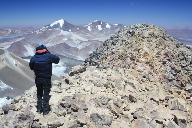 Haz on the summit of Ojos del Salado (6,892m)