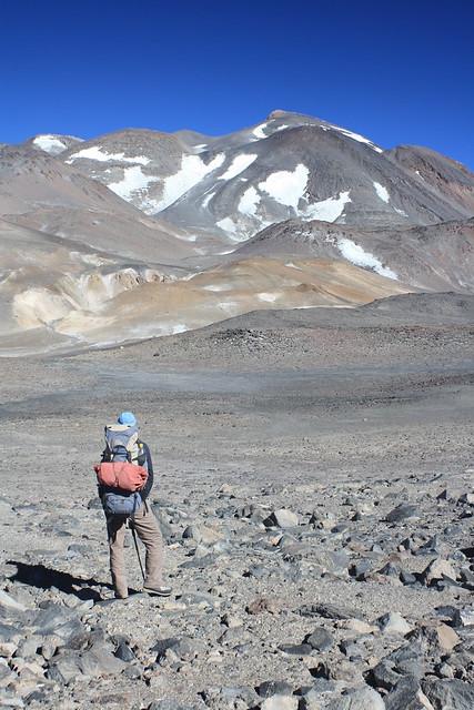 Gazing at Ojos del Salado (6,892m)