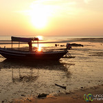 Low Tide and Fishing Boats at Sunset - Koh Samui, Thailand