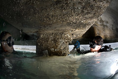 water, sea cave, caving,