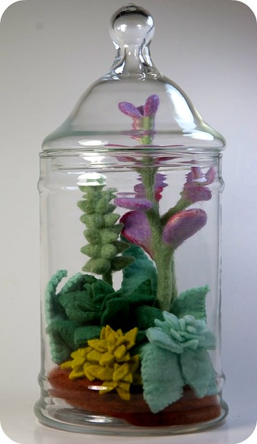 Felt Succulent Terrarium