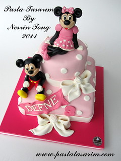 MINIE AND MICKEY MOUSE CAKE - DEFNE BIRTHDAY